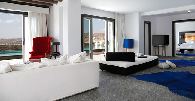The luury villa Apocalypsis in Mykonos